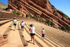 Runners at Red Rocks - Denver, Colorado - Photo