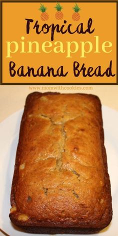 Pineapple Banana Bread Recipe, Easy Banana Bread, Banana Bread Recipes, Quick Bread, Köstliche Desserts, Delicious Desserts, Yummy Food, Tasty, Best Nutrition Food
