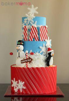 1502484_618824198155534_1955171424_n Christmas Sweets, Christmas Goodies, Christmas Baking, Christmas Cakes, Xmas Food, Winter Wonderland Cake, Winter Wonderland Christmas, Cake Decorating Books, Cupcake Cakes