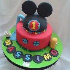 Torta de la casa club de mickey mouse