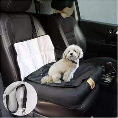 Travel Dog Bed Soft Washable Car Seat Cushion Warm Luxury Pet Basket w/Protector Car Seat Cushion, Dog Car Seats, Seat Cushions, Puppy Carrier, Car Seat Protector, Pet Seat Covers, Pet Dogs, Pets, Small Cars