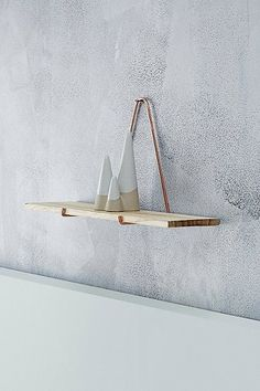 Simple copper and wood shelves from Urban Outfitters