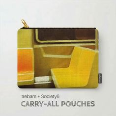 Carry-All Pouches by trebam + Society6 | Watch video: https://instagram.com/p/BDNEfG1kNX4/ | #trebam #accessories #art #design