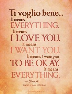 Ti voglio bene yes my love you know I do...we were meant to be and we complete each other on so many levels that no one would ever understand so let them be bitter..-_-