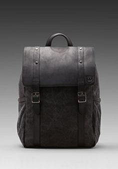 GRIFFIN Assembly Backpack in Black/ Cobalt -