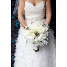 Wedding bouquet via Polyvore