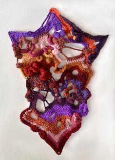 Unique Freeform Crochet Fiber Art, Tapestry, Wall Hanging.{ via Etsy.}
