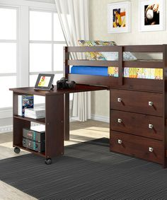 This Cappuccino Loft Work & Storage Bed by Donco Kids is perfect! #zulilyfinds
