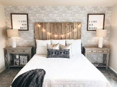 This is a Bedroom Interior Design Ideas. House is a private bedroom and is usually hidden from our guests. Much of our bedroom … Brick Wallpaper Bedroom, Brick Wall Bedroom, Of Wallpaper, Farmhouse Wallpaper, Garage Bedroom, Wallpaper Ideas, Cozy Bedroom, Home Decor Bedroom, Master Bedroom