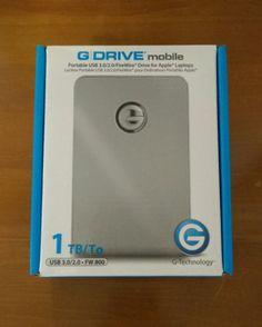 BRAND NEW G-Technology G-Drive Mobile 1TB Aluminum Hard Drive - USB/Firewire