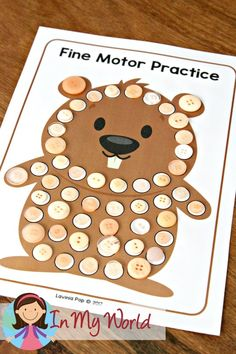 Groundhog Day Preschool Centers Fine Motor. Too Worksheet related? not open ended enough?