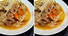 Japanese sukiyaki pork stew using happy call