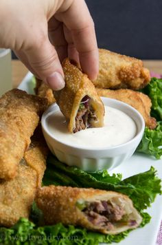 Philly Cheese Steak Egg Rolls - I Wash You Dry