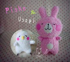 襪子娃娃~Piske&Usagi Line&Facebook的貼圖娃娃⋯好可愛  #水水美人  #襪子娃娃