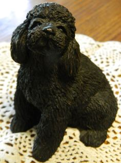 Vintage It's A Poodle A French Black Poodle StatueA by ZiggyzAttic