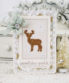 In The Meadow Revisited - Snowflakes Sparkle Card by Melissa Phillips for Papertrey Ink (December 2012)