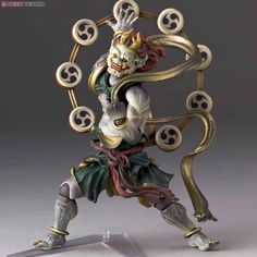 Gods as action figures:  Revoltech Takeya Raijin Series No.010