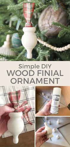 Super simple and super cute ornament!