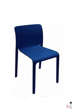 A stacking chair suitable also for outdoor use.