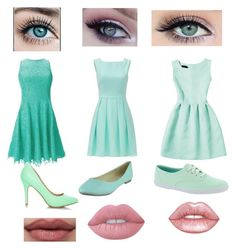 """""""1,2,3?"""" by mcookiecho on Polyvore featuring Shoshanna, Kate Spade, Keds and Lime Crime"""