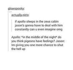 ALL OF THE POETRY APOLLO WOULD COME UP WITH