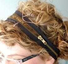 Zippers as headbands