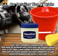Clean your car dashboard