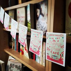 Beautiful Cherry Tree Cafe themed book bunting!