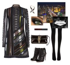 """Night Out In Vegas With My Bestie"" by autumness-1 ❤ liked on Polyvore featuring moda, Wolford, Mary Katrantzou, Aquazzura, NARS Cosmetics i Gucci"
