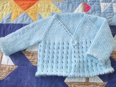 Ravelry: Baby eyelet cardi pattern by Linda from clickertyclick