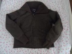 Steve & Barry's Womens Coat Size Large Brown Warm Winter 100% Cotton