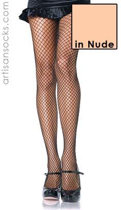 Sexy Fishnet Stockings - Nude Fishnets / Black Fishnets from Artisan Socks www.artisansocks.com