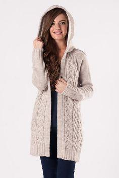 Saç Örgü Kapşonlu Hırka 2506 | addax-Bayan Giyim-Elbise Modelleri- Hediye Ürün