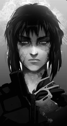 ArtStation - MAJ. M, Rashed AlAkroka ✦ Masamune Shirow, Motoko Kusanagi, Battle Angel Alita, Girls Are Awesome, Cyberpunk Art, Arte Horror, Anime Hair, Ghost In The Shell, Shell Art