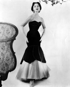 unknown designer, 1950's #vintage #midcentury #dresses