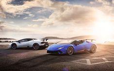 Download wallpapers 4k, Lamborghini Huracan Spyder, hypercars, 2018 cars, Lamborghini