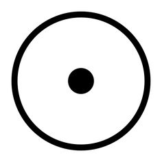 """this is an ancient solar symbol featuring a circle with its center marked with a dot. it is the astronomical and astrological symbol for the Sun, and the ancient Egyptian sign for """"sun"""" or """"Ra"""" in the hieroglyphic writing system."""
