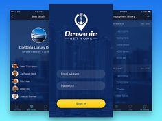 Oceanic Network iOS Mobile App UI Design by Aztech Design