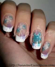 Christmas nail idea - snowflakes