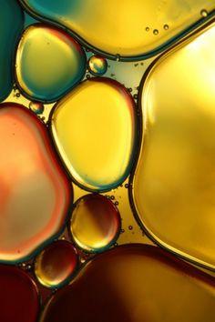 Macro shot of oil and water