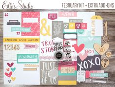 Elle's Studio exclusive kit + add-ons for February.