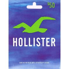 Hollister Gift Card ❤ liked on Polyvore featuring gift cards