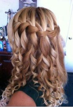 Curly hair braids wedding