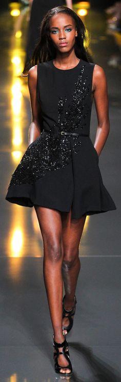 ELIE SAAB RTW SS 2015 | black embellished cocktail dress