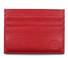 Handmade Genuine Leather Unisex Slim Card Case Super Thin Fashion Card Holder Compact Wallet - Brought to you by Avarsha.com