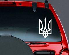 Tryzub Ukranian Symbol Vinyl CAR DECAL Ukraine Trident Coat of