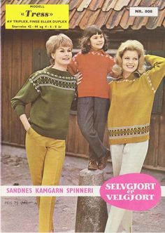 Tress 808 Norwegian Knitting, Colour Combinations, Jumpers, Knitting Patterns, Crafts, Color, Style, Fashion, Tejidos