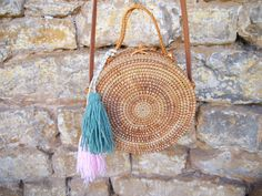 Lovely round rattan bag