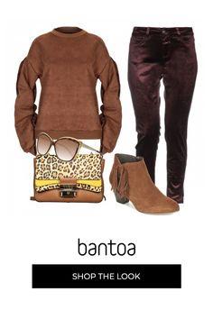 Un outfit sportivo con il tocco trendy della city bag stampa leopard Thomas Sabo, Pullover, Polyvore, Outfits, Fashion, Moda, Fashion Styles, Sweater, Clothes