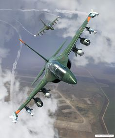 The Yakovlev Yak-130 is a subsonic two-seat advanced jet trainer/light attack aircraft or lead-in fighter trainer (LIFT) developed by the Yakovlev design bureau. Development of the plane began in 1991, and the maiden flight was conducted on 26 April 1996. In 2005, it won a Russian government tender for training aircraft, and in 2009 the first planes were put into service in the Russian Air Force